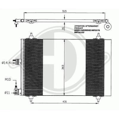 Condenseur, climatisation - Diederichs Germany - 8407100