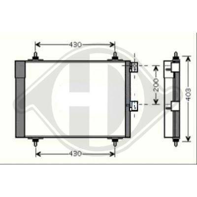 Condenseur, climatisation - Diederichs Germany - 8407102