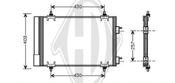 Condenseur, climatisation - Diederichs Germany - 8407200