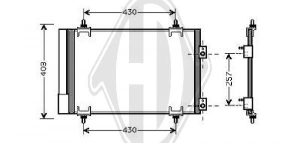 Condenseur, climatisation - Diederichs Germany - 8407201
