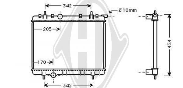 Radiateur, refroidissement du moteur - Diederichs Germany - 8407202