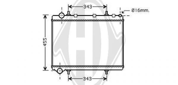 Radiateur, refroidissement du moteur - Diederichs Germany - 8407203
