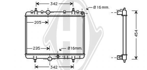 Radiateur, refroidissement du moteur - Diederichs Germany - 8407204