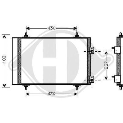 Condenseur, climatisation - Diederichs Germany - 8407206