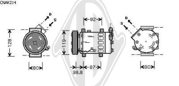 Compresseur, climatisation - Diederichs Germany - 8408512