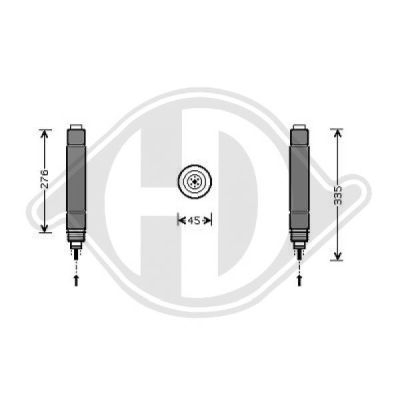 Filtre déshydratant, climatisation - Diederichs Germany - 8409201
