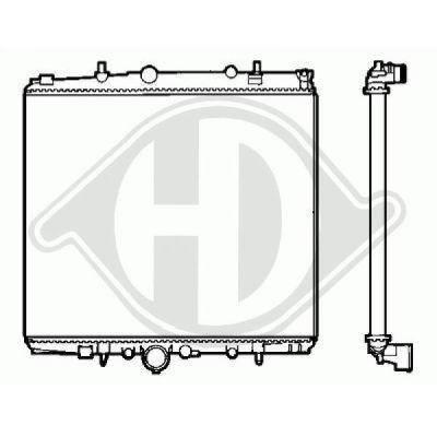 Radiateur, refroidissement du moteur - Diederichs Germany - 8409202