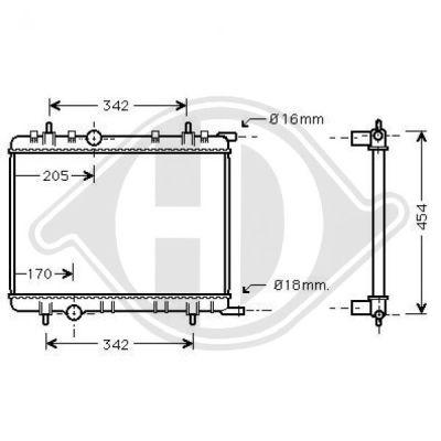 Radiateur, refroidissement du moteur - HDK-Germany - 77HDK8420002