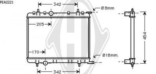 Radiateur, refroidissement du moteur - HDK-Germany - 77HDK8420004