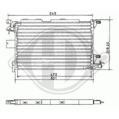 Condenseur, climatisation - Diederichs Germany - 8421000