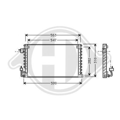 Condenseur, climatisation - HDK-Germany - 77HDK8421010