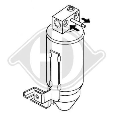 Filtre déshydratant, climatisation - Diederichs Germany - 8421011
