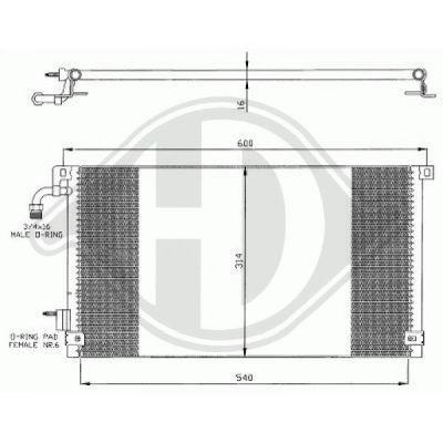 Condenseur, climatisation - Diederichs Germany - 8421012