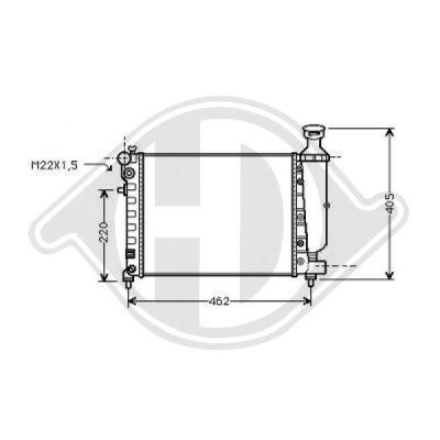 Radiateur, refroidissement du moteur - Diederichs Germany - 8421015