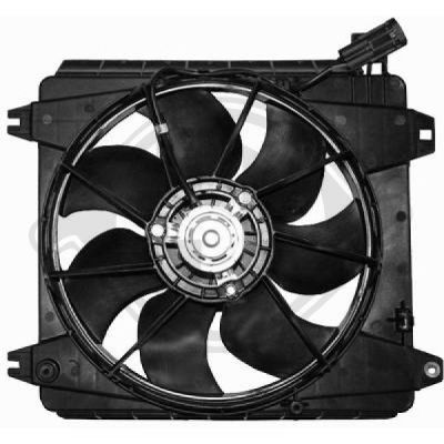 Ventilateur, refroidissement du moteur - Diederichs Germany - 8421103
