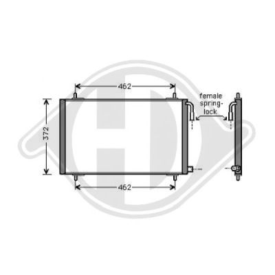 Condenseur, climatisation - Diederichs Germany - 8422500