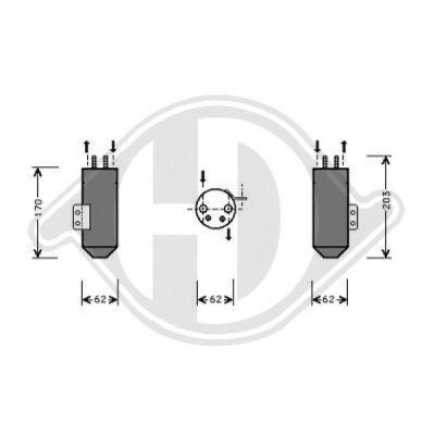 Filtre déshydratant, climatisation - HDK-Germany - 77HDK8422501