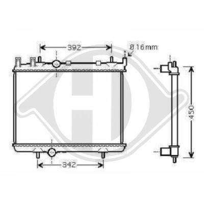 Radiateur, refroidissement du moteur - HDK-Germany - 77HDK8422505