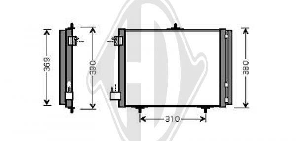 Condenseur, climatisation - Diederichs Germany - 8422600