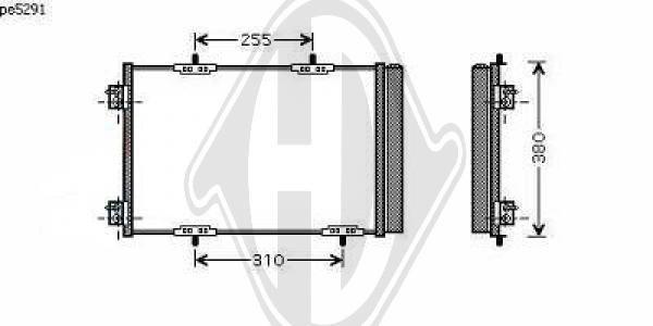 Condenseur, climatisation - Diederichs Germany - 8422601