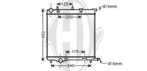 Radiateur, refroidissement du moteur - Diederichs Germany - 8422602