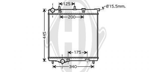 Radiateur, refroidissement du moteur - HDK-Germany - 77HDK8422603