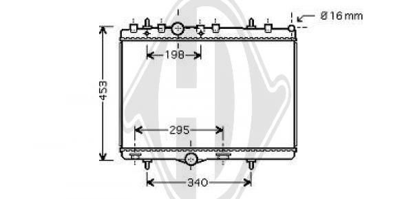 Radiateur, refroidissement du moteur - Diederichs Germany - 8422604