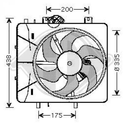Ventilateur, refroidissement du moteur - Diederichs Germany - 8422605