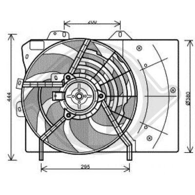Ventilateur, refroidissement du moteur - Diederichs Germany - 8422606