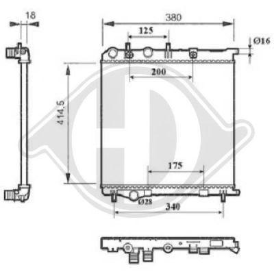 Radiateur, refroidissement du moteur - Diederichs Germany - 8422610