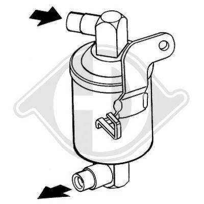 Filtre déshydratant, climatisation - Diederichs Germany - 8423302