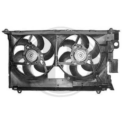 Ventilateur, refroidissement du moteur - Diederichs Germany - 8423311