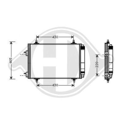 Condenseur, climatisation - HDK-Germany - 77HDK8423400