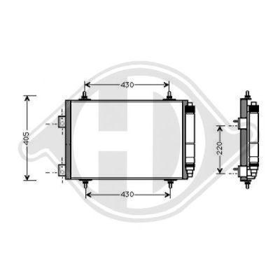 Condenseur, climatisation - Diederichs Germany - 8423401