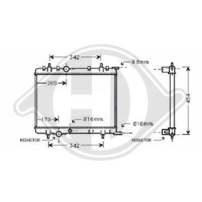 Radiateur, refroidissement du moteur - Diederichs Germany - 8423405