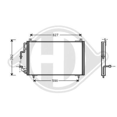 Condenseur, climatisation - Diederichs Germany - 8424100
