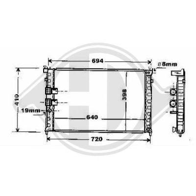 Radiateur, refroidissement du moteur - Diederichs Germany - 8424105
