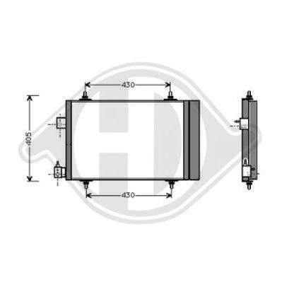 Condenseur, climatisation - Diederichs Germany - 8424200