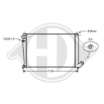 Radiateur, refroidissement du moteur - HDK-Germany - 77HDK8424201