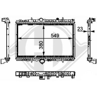 Radiateur, refroidissement du moteur - Diederichs Germany - 8424203
