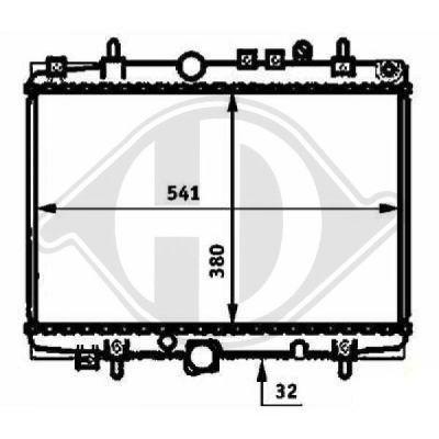 Radiateur, refroidissement du moteur - Diederichs Germany - 8424204