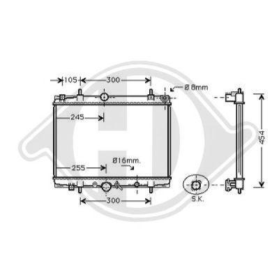 Radiateur, refroidissement du moteur - Diederichs Germany - 8424205