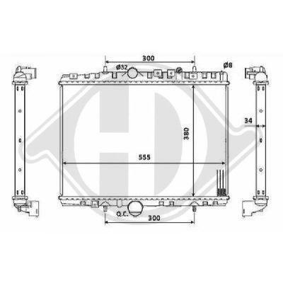 Radiateur, refroidissement du moteur - Diederichs Germany - 8424206