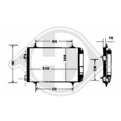 Condenseur, climatisation - Diederichs Germany - 8424208