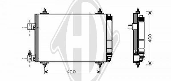 Condenseur, climatisation - Diederichs Germany - 8424300