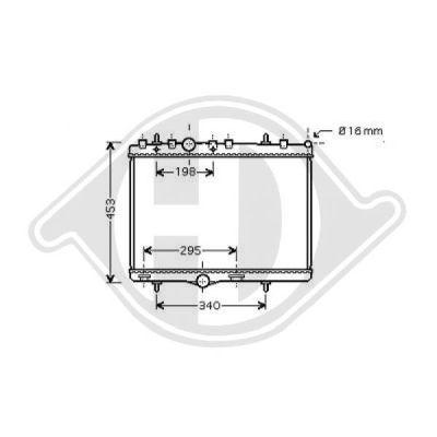 Radiateur, refroidissement du moteur - Diederichs Germany - 8424302