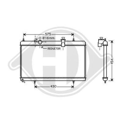 Radiateur, refroidissement du moteur - Diederichs Germany - 8424303