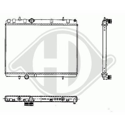 Radiateur, refroidissement du moteur - HDK-Germany - 77HDK8424304