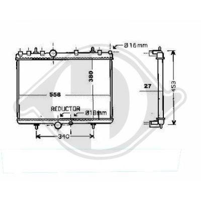 Radiateur, refroidissement du moteur - HDK-Germany - 77HDK8424306