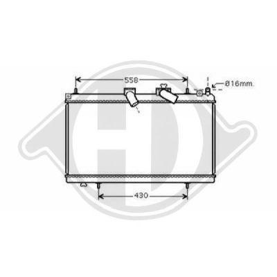 Radiateur, refroidissement du moteur - Diederichs Germany - 8424308